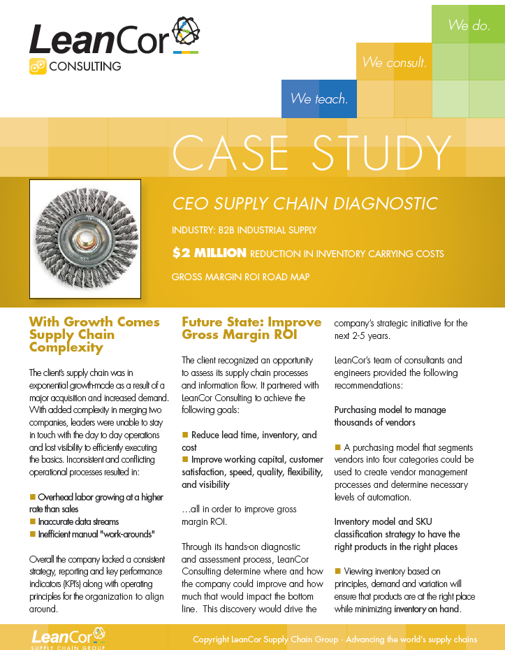 case study the case of the rewired supply chain